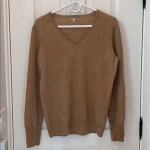 Nordstrom Halogen 100% Cashmere v-neck sweater L